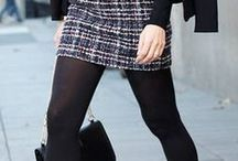 Preppy Outfits / Cute Outfits | Preppy outfits | A-Line Skirts | Tweed Skirts | Mini skirts | School outfits | College outfits