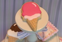 Ice Cream Love / Cookies, cakes, cupcakes etc. with an ice cream theme / by Sweetopia ~ Marian Poirier