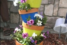 Stacking Flower Pots / by Jeanne White