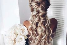 Pretty Hair / A collection of pretty hairstyles including boho braids and curls.