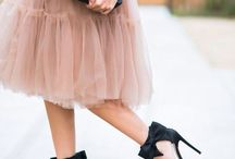 Tulle Skirts / A collection of tulle skirts for feminine outfit inspiration.