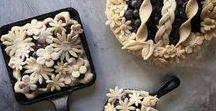 Pâte à Tarte stylisée / Sublimées de manière créative par de la pâte à tarte, de simple tartes deviennent des œuvres d'art.  Beau et bon, elles sont sublimes, j'adore !
