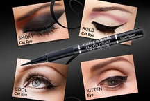 Purrr...fect Cat Eye / From thick to thin … from swirls to swoops, this easy-to-use liquid liner Pen makes lining your eyes as simple as signing your name. Its slim felt-tipped applicator acts like a fine-point marker while its ergonomic grip lets you control the effect. The harder you press, the bolder the line it creates, so easy! / by Merle Norman Cosmetics