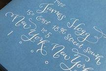 Calligraphy - wedding / by Matthew Sherman
