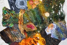 """Collage Elements-Unleashed / I'm a big fan of """"bone piles"""" and """"stashes"""" so I create all kinds of """"loose ends"""" as the spirit moves me, then I'm ready when the Mixed Media Muse visits."""