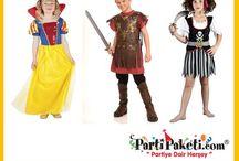 Parti Kostümleri / Özel günlerinizi Parti Paketi'nin geniş bebek kostümü, kız cocuk kostümü, erkek çocuk kostümü ve yetişkin parti kostüm çeşitlerinden seçeceğiniz doğum günü kostümü, parti kostümü, meslek kostümü, ülke kostümü , karakter kostümü, masal kahramanı kostümü, Halloween kostümü, cadılar bayramı kostümü, yılbaşı kostümü, prenses ve, peri kostümü modelleriyle daha da özel kılabilirsiniz.