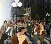 Faruk Cimok Resimleri / Faruk Cimok tablolarında resmedilen İstanbul, hemen hepimizin hayalindeki o 'nezih' İstanbul gibi gelir bana hep. Biraz geçmiş, biraz hayal, biraz gerçek...