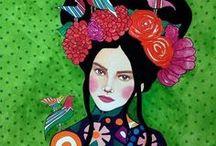 Hülya Özdemir İllüstrasyonları / Hülya Özdemir çarpıcı renk ve desenlerle süslediği illüstrasyonları ile kadının her şeye rağmen ışıldamayı bilen iç dünyasına bir pencere aralıyor.