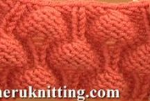 Knitting Stitch Pattern / by SHERU Knitting&Fashion