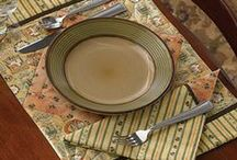 table runners and placemats / by Annette Powers