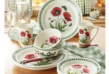 à table ! /  déco de table,  vaisselle aux couleurs campagnardes .