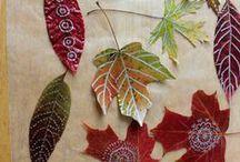 LEAF it alone / leaf crafts, decor, pics etc
