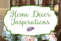 Home Decor Inspirations / Home decor photos that inspire me - transitional style, farmhouse style - comfortable, relaxing, put-together, welcoming.
