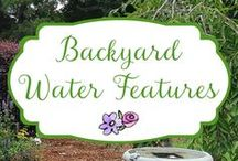 Backyard Water Features / Backyard water features - find inspiration for fountains, ponds, waterfalls, pools, or any kind of water in the garden.