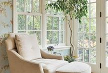 Sunroom ideas / Inspiration photos for our first floor sunroom - products, furniture styles, mood board, etc.