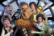 Who's scruffy looking? / Star Wars all the way!