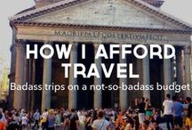 Travelling On A Budget / I love travelling. These are some tips that will hopefully get me around the world for the least possible!