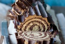 roulade - cake rolls / Chocolate, whip cream and a dab of nespresso / coconut//