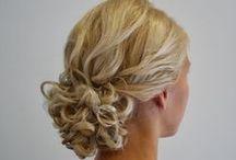 Blond hair / Juhlakampauksia vaaleisiin hiuksiin. Beutiful coiffure, blond hair.