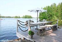 Dock on the lake/ Perrong/ Laiturit / Ideoita uuden laiturin rakentamista varten.