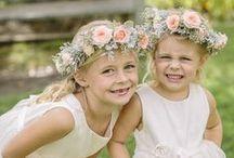 Bridal flower girls and ring bearer boys / Morsiustyttöjä ja sulhaspoikia.