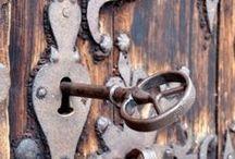 Keys and metal bells/ / Beauty of antigue bells and keys.