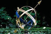 Armillary Sundials/ Aurinkokello / Great to use an old sundial to add intrest in the Garden area.