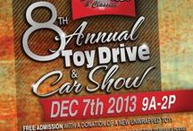 8th Annual Toy Drive & Car Show / Join us on Saturday, December 7th at the House of Hotrods for our 8th Annual Toy Drive and Car Show! All proceeds and toys will benefit Bryan's House. Bryan's house is a one-of-a-kind facility built to support and care for families with children who have been impacted by fatal illnesses.   CLICK TO RSVP: http://a.pgtb.me/5982vh   Bring an unopened toy for admission! Santa and Mrs. Clause will also be making an appearance 9am to 11:30am for pictures. At 2pm we will CRUISE and deliver the toys!
