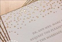 Foil Stamped Wedding Invitations / All of the fabulous foil-stamped items on this board have been custom designed and especially created for each client by Paper Rock Scissors.  The Paper Rock Scissors studio is located in the Philadelphia suburb of Conshohocken, PA.   www.paper-rock-scissors.com