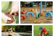 Outdoor Play Spaces / Transform your backyard and facilitate high level play. Work on core strength, fine motor skills and open-ended, creative play outside.