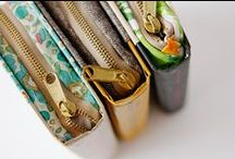 Zippered pouches | sewing patterns