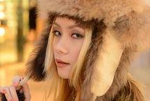 Sapphire Ng   Huge Fur Hat /   https://www.facebook.com/SapphireNgGuitarist       http://www.sapphire-love.blogspot.sg/    http://www.modelmayhem.com/SapphireNg      https://plus.google.com/+SapphireNgGuitarist/posts       http://www.youtube.com/user/SapphireNgGuitarist/videos
