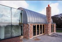 Lead In Modern Architecture / Lead sheet is often seen as a traditional weatherproofing material - we'd love to see it used more often in modern architecture. #Leadsheet is so versatile and is a great cladding material too.