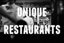 Unique Restaurants / A collection of unique restaurants from around the world.