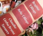 ♥ Lipstick Swatches / Comparações de Batons ♥