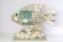 """My Seashell Bliss / I am a seashell artiste but love admiring others work as well as creating a """"memory board"""" for myself. / by Sandi's Shellscapes"""