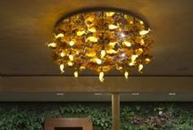 Chandelier FLAME ROUND / Individual lighting project solution. Hotel AIR, Holíč, Slovakia.