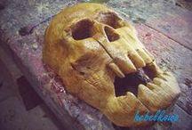 Karaboszka wooden mask / Wooden mask