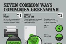 """Greenwashing / Increasingly companies are making false and misleading claims about how environmentally friendly their products are when in fact they are not.  This is called """"Greenwashing."""" The best way to avoid it is to be an INFORMED CONSUMER."""