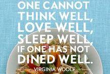"""""""Culinary Therapy""""  ;-) / """"Food is essential to life; therefore, make it good."""" Stress relief, improved physical health, selief from boredom, sense of accomplishment."""" -   Cucinare è un atto d'amore, un modo per occuparsi della felicità e del benessere di chi ci sta vicino, oltre che di noi stessi."""