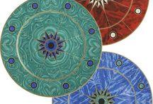 Cosas bonitas / Flores naturales,  en centros de mesa  y pintadas en porcelana. Decoración
