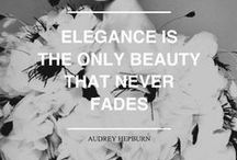 Avec élégance / «Fashion changes, but style endures.»  Coco Chanel