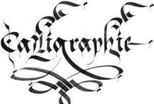 calligraphie et dessins à l'encre de chine