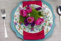 Primavera / Flores frescas, arreglos y mesas de jardín.