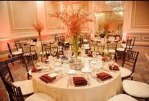 Tall Centerpieces / Tall, topiary style centerpieces