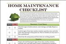 DIY:  Home Maintenance / Tips for keeping your home in good repair and a maintaining a healthy indoor environment.