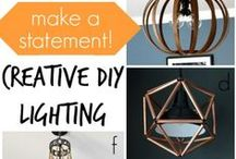 Lighting - Creative Upcycling/Repurposing / DIY Light Repurposing Creations!