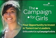 Campaign For Girls / Everything we do for girls depends on our supporters - those who believe girls have unlimited potential and that Girl Scouting is the best way for girls to tap into that. Visit www.GirlScoutsNorCal.org/CampaignForGirls to learn how you can make a difference for an entire generation of girls!  / by Girl Scouts NorCal