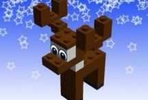 Kids Christmas crafts - Lego / Clever Lego creations