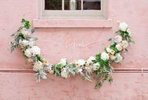 hanging flowers / garlands